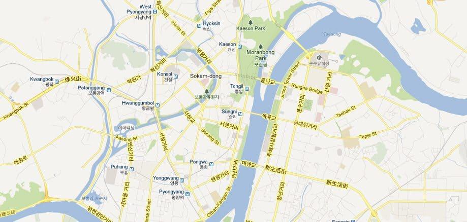 Sjeverna Koreja Google map