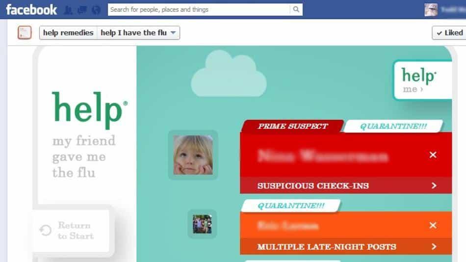 Facebook aplikacija koja će vam kazati od koga ste pokupili virus gripe
