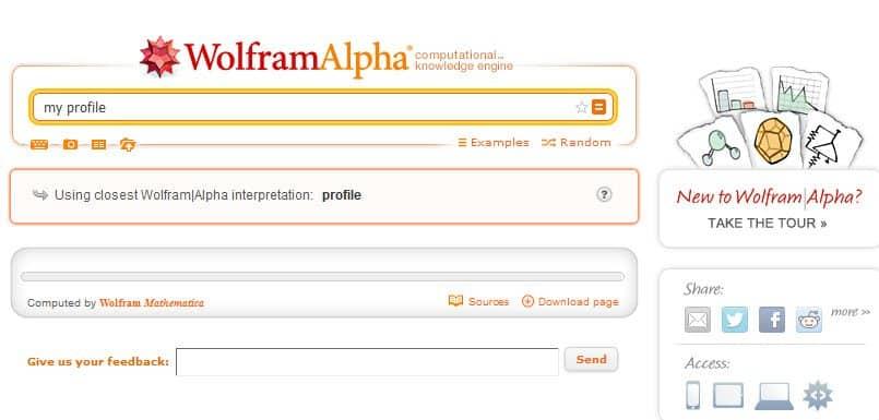 Wolfram Alpha analizira Faceboook