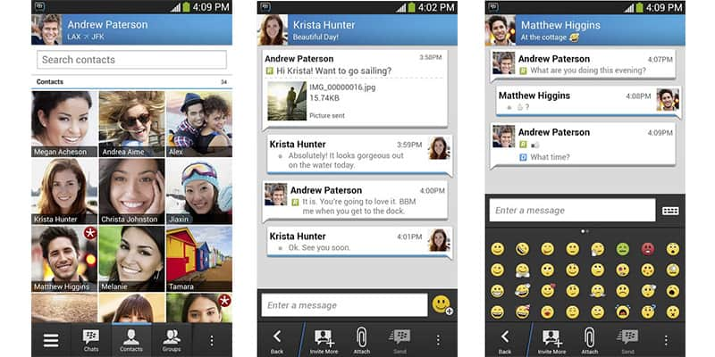 BlackBerry chat za Android i iPhone