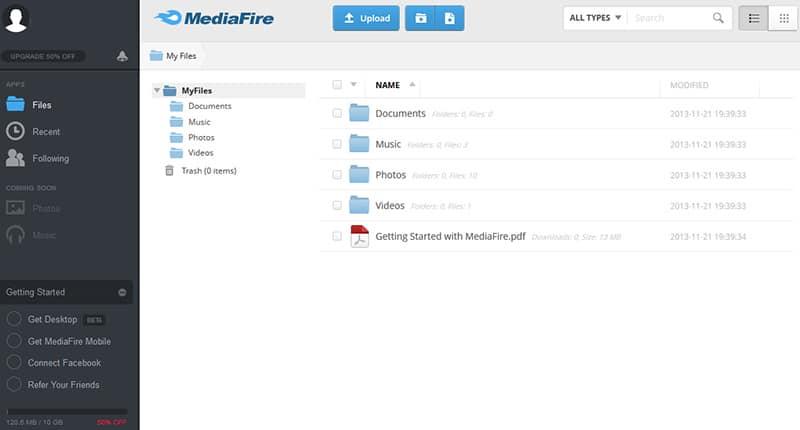 mediafire-servis