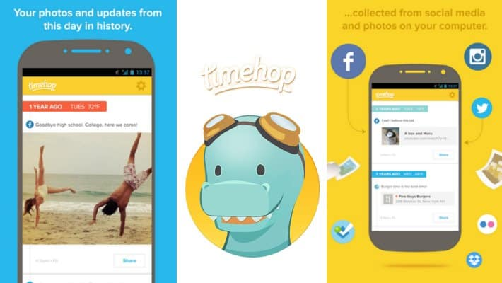 Timehop aplikacija