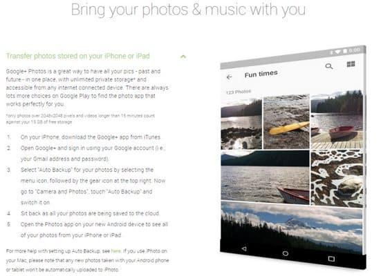 prebaci slike s iphona na android