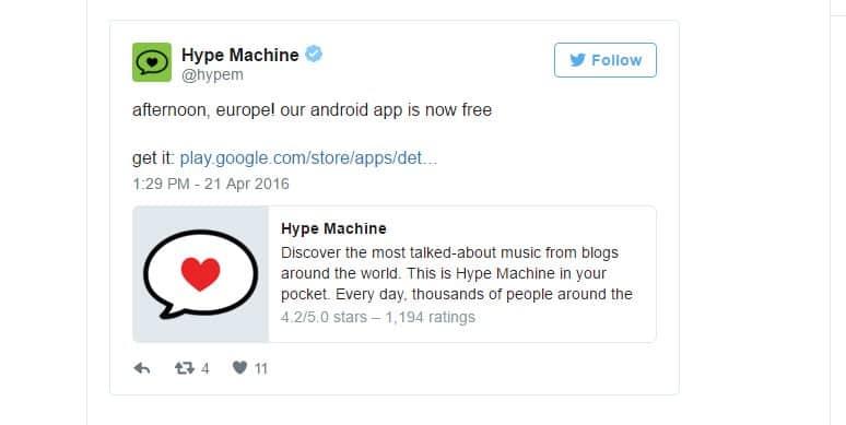 hypemachine besplatan