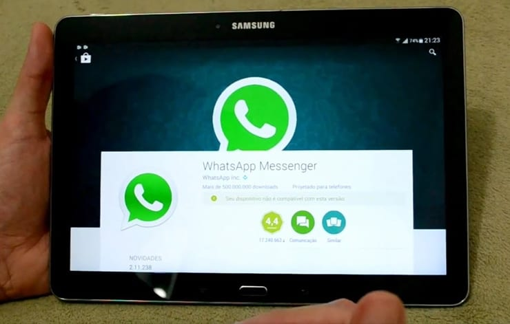 instalacija whatsapp aplikacije na tablet